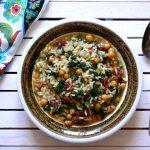 Risotto z jarmużem, cieciorką i suszonymi pomidorami