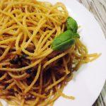 Spaghetti z czosnkiem i chilli