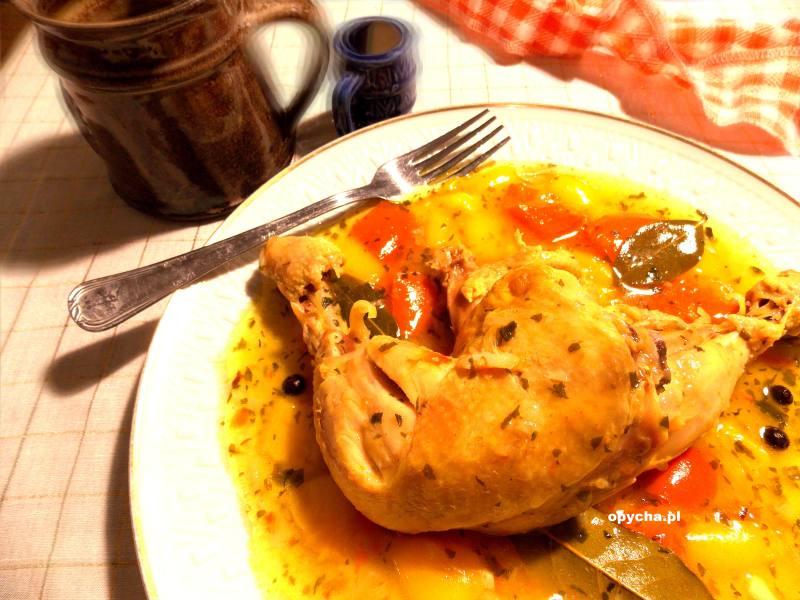 Udka kurczaka na papryce