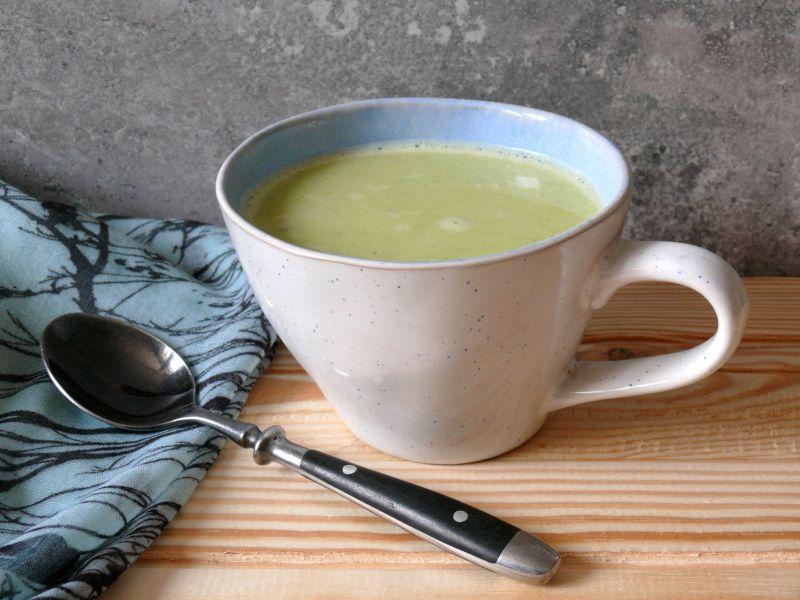 zupa z pora z mleczkiem kokosowym