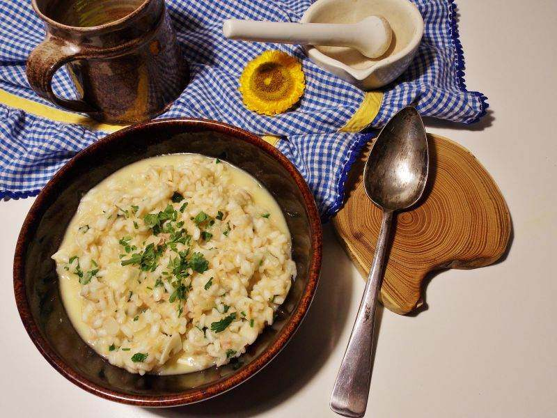 proste risotto z tuńczykiem