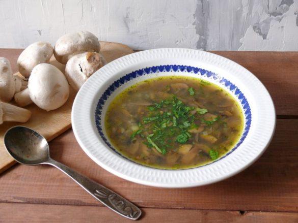Zupa pieczarkowa bez śmietany