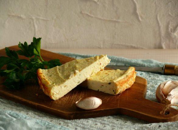 pieczony ser ricotta z pietruszką i czosnkiem