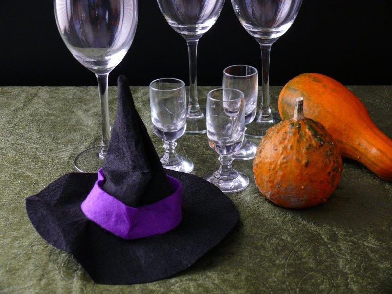 stylizacja na halloween kapelusz wiedźmy