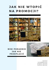 mini poradnik pdf jak nie wtopić kasy na promocji wydawaj mniej oszczędzaj jedzenie zakupy spożywcze