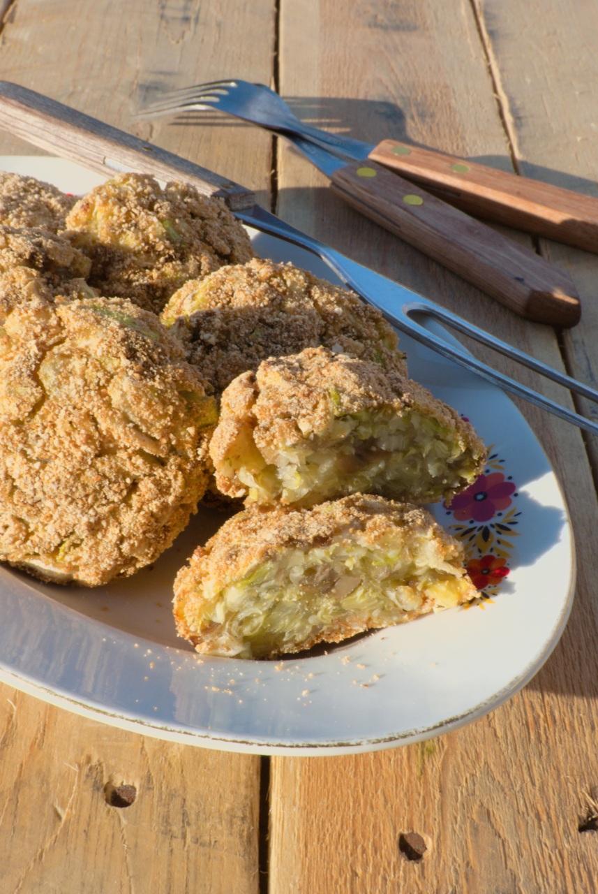 kotlety z młodej kapusty (wegańskie) z piekarnika (lub z patelni)