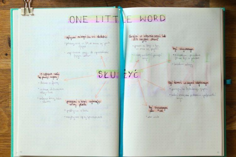 Czym jest One Little Word? Moje słówko na ten rok.