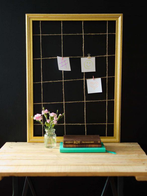 Jak zrobić kratę/organizer na zdjęcia i notatki z ramy i sznurka? Proste DIY